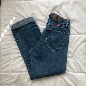 Medium-Dark Wrangler Jeans